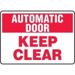 """Accuform MABR912XL10, Automatic Door Safety Sign """"Keep Clear"""""""