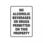 """Accuform MACC531XT, Safety Sign """"No Alcoholic Beverages…"""""""