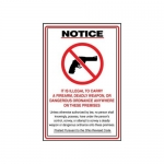 """Accuform MACC547XF10, OHIO Safety Sign """"It Is Illegal to Carry…"""""""