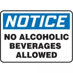 """Accuform MACC800VA, Safety Sign """"No Alcoholic Beverages Allowed"""""""