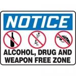 "Accuform MACC809XF10, OSHA Notice Safety Sign ""…Free Zone"""