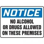 "Accuform MACC826XT, OSHA Notice Safety Sign ""No Alcohol or Drugs…"""