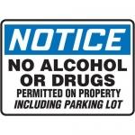 "Accuform MACC863XT, OSHA Notice Safety Sign ""No Alcohol or Drugs…"""