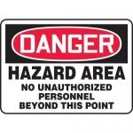 "Accuform MADC002XT, OSHA Danger Safety Sign ""Hazard Area…"""