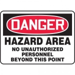 "Accuform MADC002XT10, OSHA Danger Safety Sign ""Hazard Area…"""