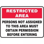 "Accuform MADC505XT10, Safety Sign ""Persons Not Assigned…"""