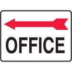 "Accuform MADC511XV10, Safety Sign ""Office"" Left Arrow Dura-Vinyl"
