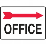 "Accuform MADC512XV10, Safety Sign ""Office"" Right Arrow Dura-Vinyl"