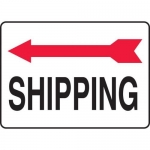 "Accuform MADC513XV, Safety Sign ""Shipping"" Left Arrow Dura-Vinyl"
