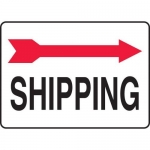"Accuform MADC514XV10, Safety Sign ""Shipping"" Right Arrow Dura-Vinyl"