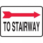 "Accuform MADC516XV10, Safety Sign ""To Stairway"" Right Arrow Dura-Vinyl"