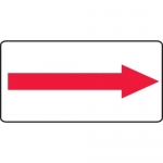 Accuform MADC517XV10, Safety Sign Red Arrow Adhesive Dura-Vinyl