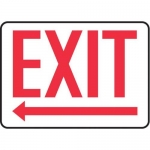 "Accuform MADC532XV, Safety Sign ""Exit"" Left Arrow Below Dura-Vinyl"