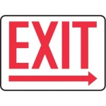 "Accuform MADC534XV10, Safety Sign ""Exit"" Right Arrow Below Dura-Vinyl"