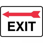 "Accuform MADC538XV, Safety Sign ""Exit"" Left Arrow Above Dura-Vinyl"