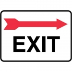 "Accuform MADC539XV, Safety Sign ""Exit"" Right Arrow Above Dura-Vinyl"