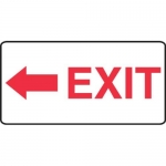 "Accuform MADC540XV, Safety Sign ""Exit"" Red Arrow Left Dura-Vinyl"