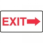 "Accuform MADC541XV, Safety Sign ""Exit"" Right Arrow Adhesive Dura-Vinyl"