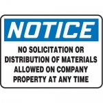"Accuform MADC828XV10, OSHA Notice Safety Sign ""No Solicitation…"""