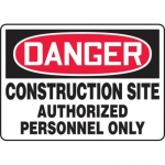 "Accuform MADM003XL10, OSHA Danger Safety Sign ""Construction Site…"""