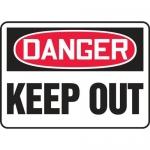 "Accuform MADM011XL, OSHA Danger Safety Sign ""Keep Out"" Aluma-Lite"