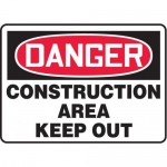"""Accuform MADM014XL, Danger Safety Sign """"Construction Area – Keep Out"""""""