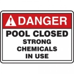 "Accuform MADM025XT10, ANSI Danger Safety Sign: ""Pool Closed…"""