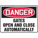 "Accuform MADM034XF10, OSHA Danger Safety Sign ""Gates Open…"""