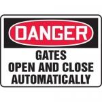 "Accuform MADM034XL10, OSHA Danger Safety Sign ""Gates Open…"""