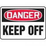 "Accuform MADM037XL10, OSHA Danger Safety Sign ""Keep Off"" Aluma-Lite"