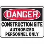 "Accuform MADM045XL, OSHA Danger Safety Sign ""Construction Site…"""