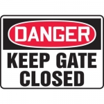 "Accuform MADM054XF10, OSHA Danger Safety Sign ""Keep Gates Closed"""