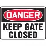 "Accuform MADM054XL10, OSHA Danger Safety Sign ""Keep Gates Closed"""