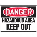 "Accuform MADM070XT, OSHA Danger Safety Sign ""Hazardous Area Keep…"""