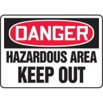 "Accuform MADM070XT10, OSHA Danger Safety Sign ""Hazardous Area Keep…"""
