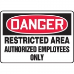 "Accuform MADM082XT10, OSHA Danger Safety Sign ""Restricted Area…"""