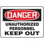 """Accuform MADM090XT10, OSHA Danger Safety Sign """"Unauthorized…"""""""