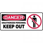 """Accuform MADM112XV10, OSHA Danger Safety Sign """"Unauthorized…"""""""