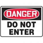 "Accuform MADM116XF10, OSHA Danger Safety Sign ""Do Not Enter"""