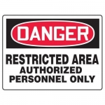 "Accuform MADM119XF10, OSHA Danger Safety Sign ""Restricted Area…"""