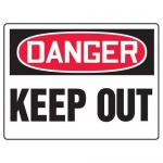 "Accuform MADM120XF, OSHA Danger Safety Sign ""Keep Out"" Dura-Fiberglass"