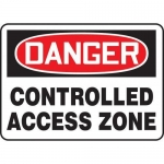 "Accuform MADM126XT10, OSHA Danger Safety Sign ""Controlled Access Zone"""