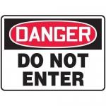 "Accuform MADM129XL, OSHA Danger Safety Sign ""Do Not Enter"" Aluma-Lite"