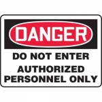 "Accuform MADM131XL, OSHA Danger Safety Sign ""Do Not Enter…"""