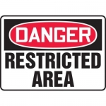 """Accuform MADM137XL10, OSHA Danger Safety Sign """"Restricted Area"""""""