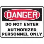 "Accuform MADM141XT10, OSHA Danger Safety Sign ""Do Not Enter…"""