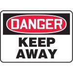 "Accuform MADM144XL, OSHA Danger Safety Sign ""Keep Away"" Aluma-Lite"