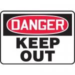 "Accuform MADM147XL10, OSHA Danger Safety Sign ""Keep Out"" Aluma-Lite"