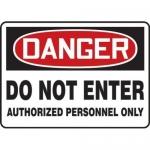 "Accuform MADM157XT10, OSHA Danger Safety Sign ""Do Not Enter…"""