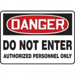"Accuform MADM157XV10, OSHA Danger Safety Sign ""Do Not Enter…"""